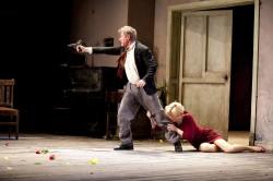 Richard Roxburgh as Vanya and Cate Blanchett as Yelena in Sydney Theatre Company's Uncle Vanya – Photo by Lisa Tomasetti