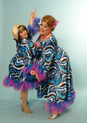 Ivanna Barrientos as Tracy Turnblad and Lawrence Munsey as Edna  in 'Hairspray.' Photo by William Forehand.