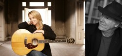 Mary Chapin Carpenter with Loudon Wainwright III.  Photography courtesy of Wolf Trap.