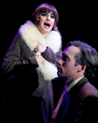 Maria Rizzo as Sally Bowles and Bradley Foster Smith as Clifford Bradshaw.  Photo by C Stanley Photography.