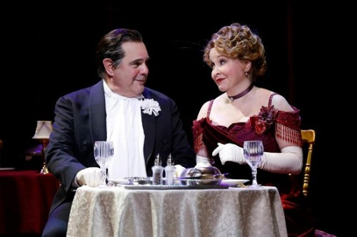 Edward Gero as Horace Vandergelder and Nancy Opel as Dolly Levi in the Ford's Theatre and Signature Theatre co-production of 'Hello, Dolly!' Photo by Carol Rosegg.