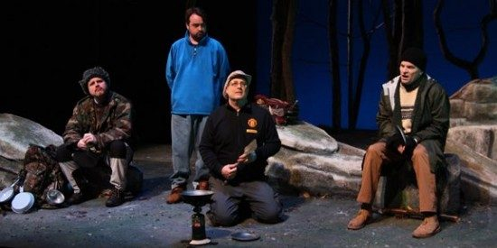 Todd Scofield, Michael Glenn, Michael Russotto, and Roy Bolton Marsh. Photo courtesy of Olney Theatre Center.