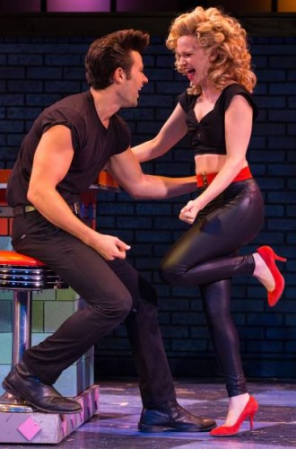 Matthew Ragas and Laura Giknis in Grease at Walnut Street Theatre. Photo by Mark Garvin.