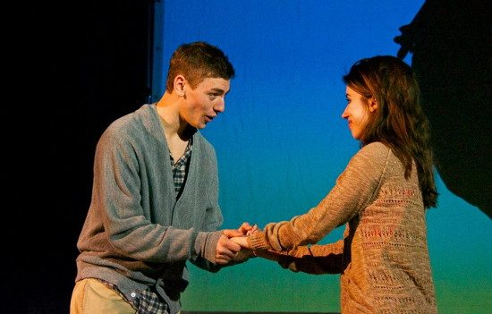Isaac as Adam and Holly Hornbeck in 'The Apple Tree' in 2014.