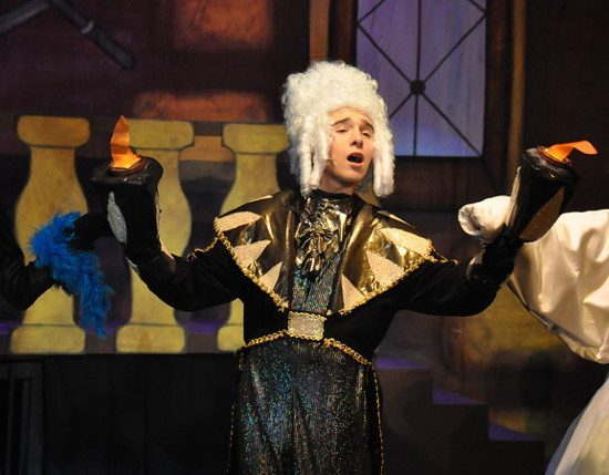 Philip as Lumiere in Beauty and the Beast, Children's Playhouse of Maryland, December 2013. Photo by Karis Haslam.