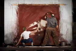 Patrick Andrews as Ken and Edward Gero as Mark Rothko in the 2011 Goodman Theatre production of 'Red.' Photo by Liz Lauren.