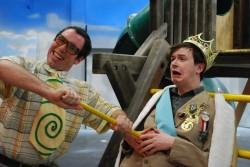 Pa Ubu (Tim Harmey) and King Wenceslas (Adi Stein). Photo by Catherine Gannon.