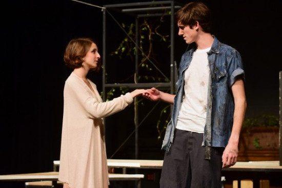 Olivia Libowitz as Blanche Dubois and Caleb Powell as Stanley Kowalski. Photo by Paul W. Gillepsie.