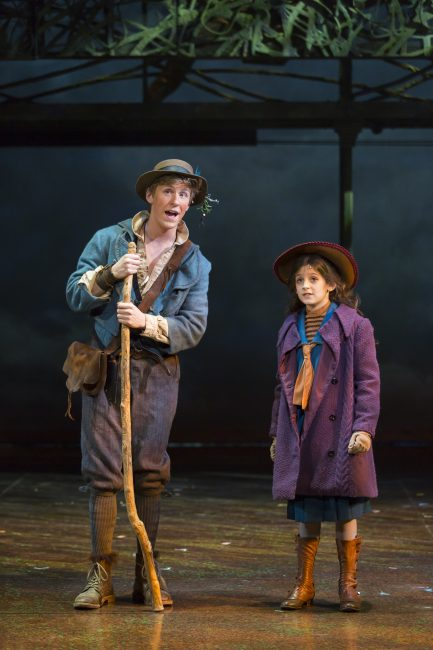 """Charlie Franklin as Dickon and Anya Rothman as Mary Lennox in Shakespeare Theatre Company's production of """"The Secret Garden,"""" directed by David Armstrong. Photo by Scott Suchman."""