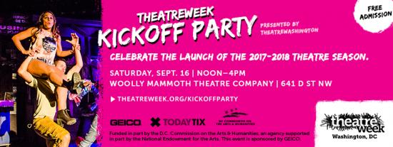 Theatre News: theatreWashington Announces theatreWeek Kickoff Party