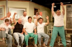 The cast of One Flew Over the Cuckoo's Nest. Photo by Harvey Levine.