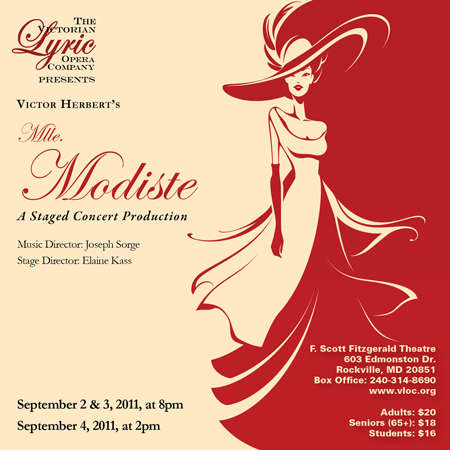 Mlle Modiste at Victorian Lyric Opera Company