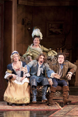 The heir apparent at shakespeare theatre company for Farcical in french