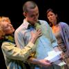 Rena Cherry Brown, Alexander Strain and Rachel Beauregard in 'Scorched.' Photo by Melissa Blackall.