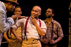 Axel Avin, Jr., Gavin Lawrence, Erik LaRay Harvey, and Jaime Lincoln Smith in 'Gleam.' Photo by Richard Anderson.