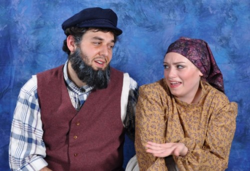 Ryan Burke as Tevye and Alexandra Goldstein as Golde. Photo courtesy of Montgomery College.