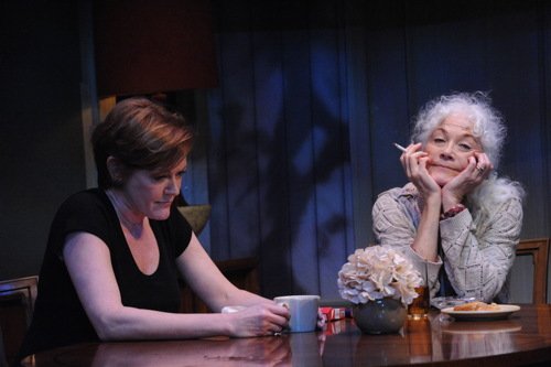 Deborah Hazlett as Barbara Fordham and Linda Thorson as Violet Weston.Photo by Stan Barouh