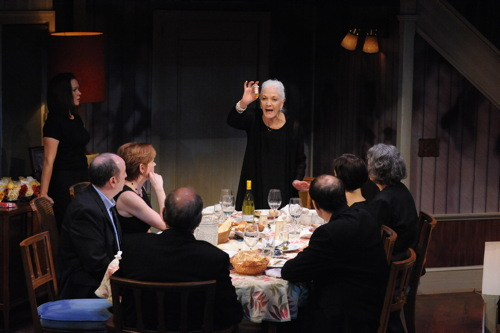 Linda Thorson as Violet Weston and cast of 'August: Osage County'.Photo by Stan Barouh.