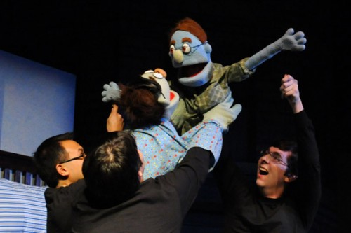 Some of the cast of Avenue Q.  Photo by Jarret Baker