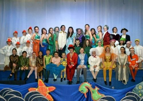 The cast of Disney's 'The Little Mermaid, Jr.' at Aldersgate Church Community Theatre.  Photo courtesy of Aldersgate Church Community Theatre.