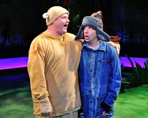 Todd Scofield as Winnie the Pooh and James Gardiner as Eeyore.Photo by Photo by Bruce Douglas.