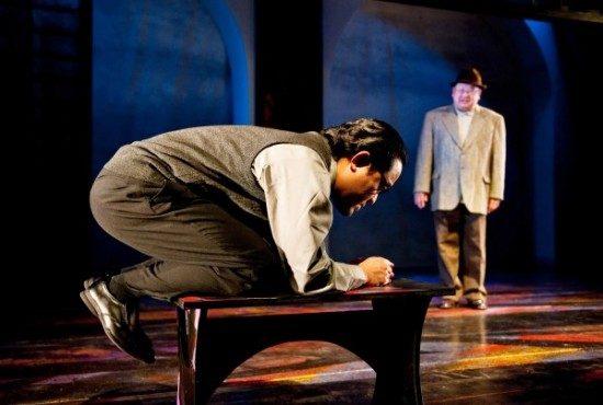 Foreground - Steve Lee as Cat, Background - Al Twanmo as Nakata. Photo by Franc Rosario.