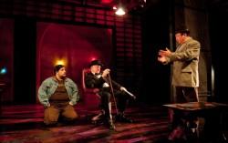 Left - Jon Jon Johnson as Dog, Center - Steve Beall as Johnnie Walker, Right - Al Twanmo as Nakata. Photo by Franc Rosario.