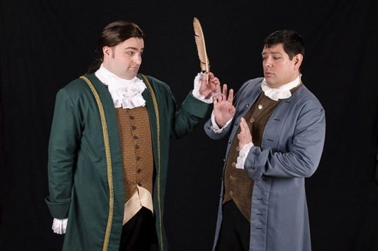 Vince Musgrave as Roger Sherman. Photo by The Colonial Players.