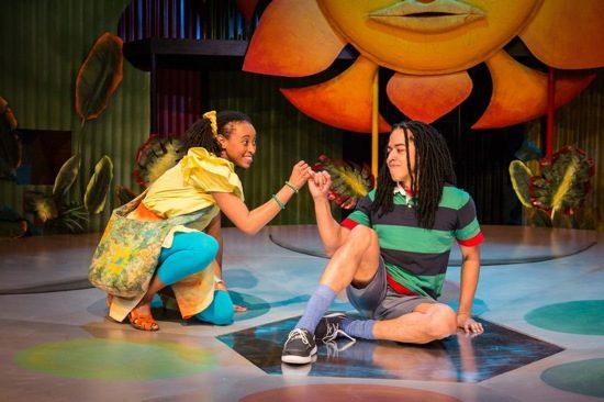 Brittany Williams as Nansi and Jobari Parker-Namdar as Ziggy. Photo by Michael Horan