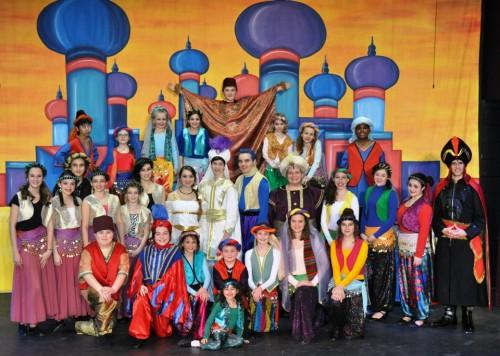 The cast of 'Aladdin, Jr.'  Photo by Karis Haslam.