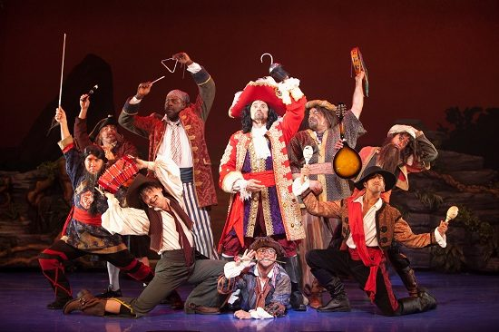 Brent Barret (Hook) and the Pirates in 'Peter Pan.' Photo by Isaac James.