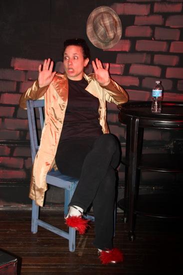 Writer/performer/protagonist Maija DiGiorgio. Photo courtesy of Strand Theater.