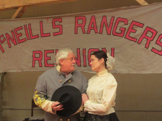 John Hanson McNeill (Ron Growden) and his wife, Jemima, (Danise Whitlock). Photo provided by Potomac State College.