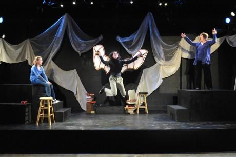 Echo (Maya Brettell) Artie (Janel Miley), and Dorothea (Ilona Dulaski). Photo courtesy of Compass Rose Theater.