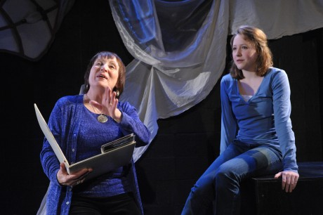 Dorothea (Ilona Dulaski) and Echo (Maya Brettell).  Photo courtesy of Compass Rose Theater.