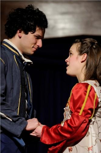 Brendan Edward Kennedy (Romeo) and Kathryn Zoerb (Juliet).  Photo by Will Kirk.