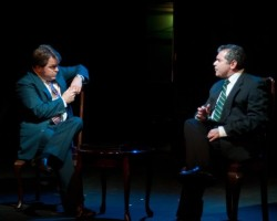 Brendan Murray as Frost and Michael Kharfen as Nixon. Photo by Harvey Levine.