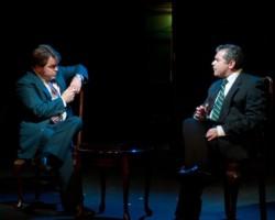 Brendan Murray as Frost and Michael Kharfen as Nixon. Photo by Harvey Levine.