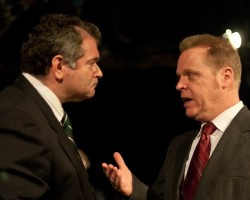 Michael Kharfen as Nixon and Kevin Dykstra as Brennan. Photo by Harvey Levine.
