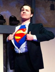 Steve Custer as Superman.  Photo courtesy of Being Revived.