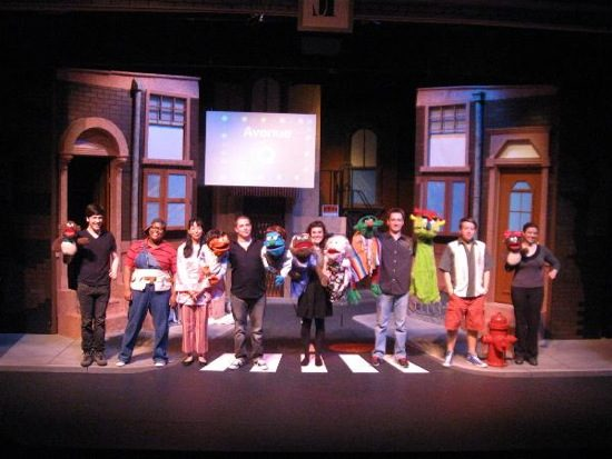 The cast of 'Avenue Q'. Photo by Cumberland Theatre.