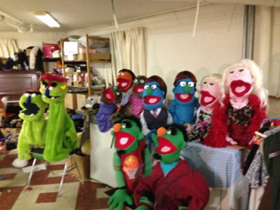 The puppets in 'Avenue Q'. Photo by Cumberland Theatre.