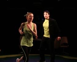 Sarah (Kelsey Painter) and Coach (James Jager). Photo by Curtis Jordan.