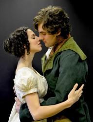 Michael Ryan Neely (Mr. Darcy) and Caitlin McWethy (Elizabeth Bennet). Photo by Corey Sentz.