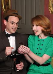 Greg Jericho (Leo Davis) and Kara Turner (Hilda Manney).  Photo by Tom Lauer.