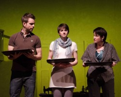 Matt Baughman, Rebecca Phillips, and Melanie Bales. Photo by Doug Olmsted.