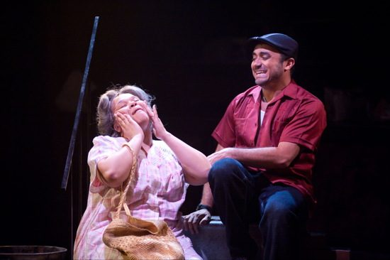 Abuela Claudia (Crystal Freeman) and Usnavi (David Gregory). Photo by Kirstine Christiansen.