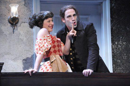 Dorea Schmidt (Cherry) and Danny Gavigan (Archer). The photo is by Stan Barouh.