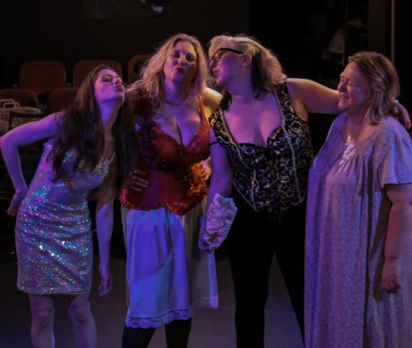Angel (Kelsey Painter), Delilah (Ty Hallmark), Danni (Deborah Randall), and Genevieve (Karen Costanzi). Photo by Curtis Jordan.