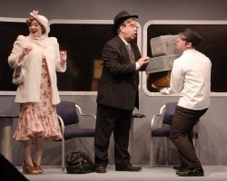 Heather Norcross (Anita Highland), Michael Gerwin (Dr. Grover Lockwood), and Ben Norcross (Porter). Photo by Doug Olmsted.